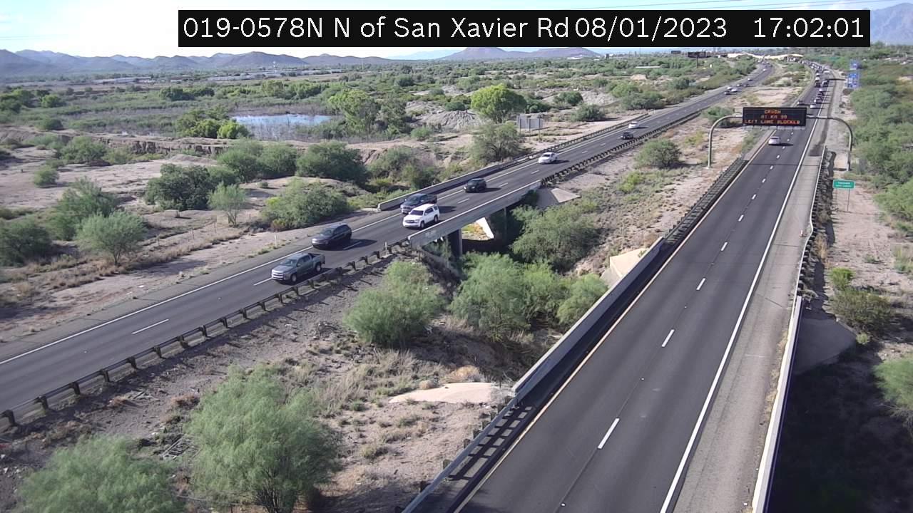 I-19 NB 57.82 @N of San Xavier Camera Image